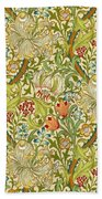 Golden Lily Beach Towel