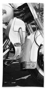 White Harley Davidson Bw Beach Sheet