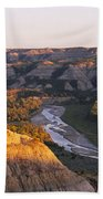 High Angle View Of A River Passing Beach Towel