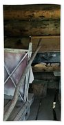 Historic Log Trappers Cabin Beach Sheet