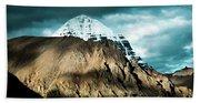 Holy Kailas East Slop Himalayas Tibet Yantra.lv Beach Sheet