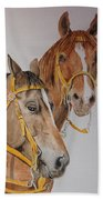 2 Horses Beach Towel