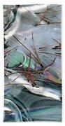 2. Ice Prismatics 1, Slaley Sand Quarry Beach Towel