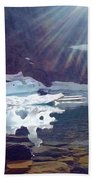 Iceberg Lake Beach Towel
