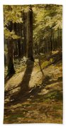 In A Forest Beach Towel