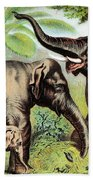 Indian Elephant, Endangered Species Beach Towel