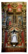 Interior Statue - San Xavier Mission - Tucson Arizona Beach Towel