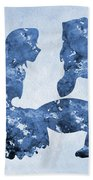 Jane And Tarzan-blue Beach Towel