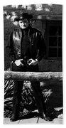 Johnny Cash Gunfighter Hitching Post Old Tucson Arizona 1971 Beach Towel