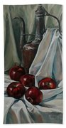 Jug With Apples Beach Towel