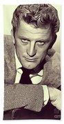 Kirk Douglas, Vintage Actor Beach Towel
