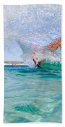 Kitesurfing Beach Towel by Stelios Kleanthous