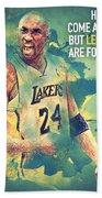 Kobe Bryant Beach Sheet