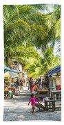Koh Rong Island Main Village Bars In Cambodia Beach Towel