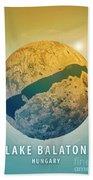 Lake Balaton 3d Little Planet 360-degree Sphere Panorama Beach Towel