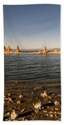 Lakefront And Sunset At Mono Lake, Eastern Sierra, California, U Beach Towel