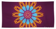 Landscape Purple Back And Abstract Orange And Blue Star Beach Sheet