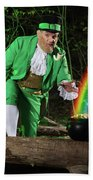 Leprechaun With Pot Of Gold Beach Towel