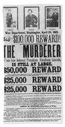 Lincoln Assassination Beach Sheet