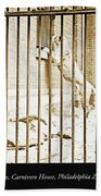 Lion Cage, Carnivore House, Philadelphia Zoo, C. 1900 Beach Towel
