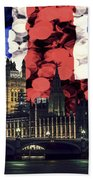 London Cityscape With Big Ben Beach Towel