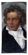 Ludwig Van Beethoven, German Composer Beach Towel