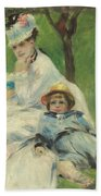 Madame Monet And Her Son Beach Towel