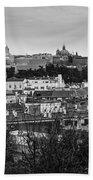 Madrid Panorama From Debod Lookout Madrid Spain Beach Towel
