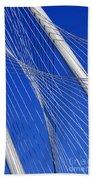 Margaret Hunt Hill Bridge In Dallas - Texas Beach Towel