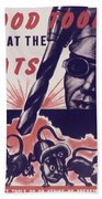 Marine Corps Recruiting Poster From World War Beach Towel