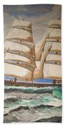 2 Master Tall Ship Beach Towel