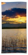 Mcintosh Lake Sunset Beach Towel