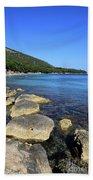 Mediterranean Seascape  Beach Towel