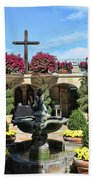 Mission Inn Chapel Courtyard Beach Towel