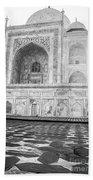 Monochrome Taj Mahal - Sunrise Beach Towel