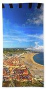 Nazare Portugal Skyline Beach Towel