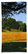 Ncdot Wildflowers Beach Towel