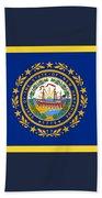 New Hampshire Flag Beach Towel