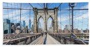 New York City Brooklyn Bridge Beach Sheet