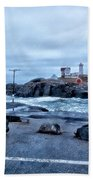 Nubble Light Lighthouse Beach Towel