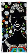 Nuer Lady With Pipe - South Sudan Beach Towel