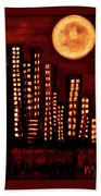 Wild L.a Moon Beach Towel