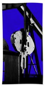 Oil Well Pump #3 Beach Towel