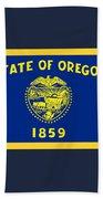 Oregon Flag Beach Towel