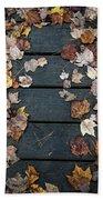 Original Autumn Foliage Beach Towel