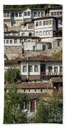 Ottoman Architecture View In Historic Berat Old Town Albania Beach Towel