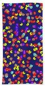 Pacman Seamless Generated Pattern Beach Towel