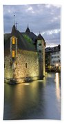 Palais De L'isle And Thiou River In Annecy Beach Towel
