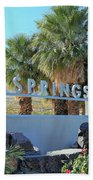 Palm Springs Welcome Beach Towel