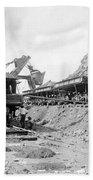 Panama Canal - Construction - C 1910 Beach Towel